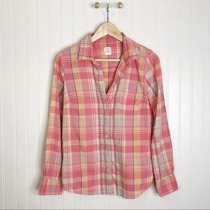 Perfect shirt button down jcrew pink plaid 4